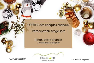 Tombola de décembre 2018 - stress-off massages St Médard en Jalles